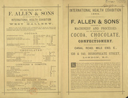 Advert For F. Allen & Sons, Confectioner